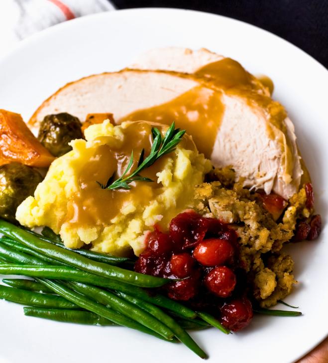 Turkey Dinner Closeup